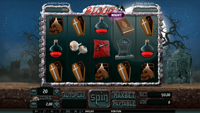 blood night casino slot